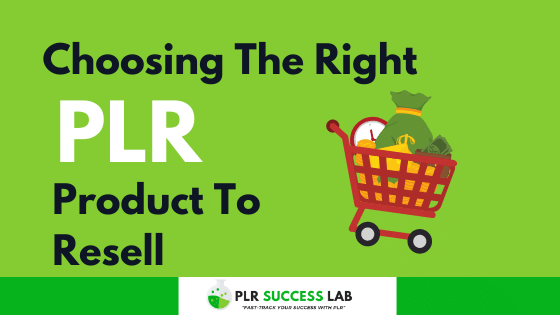 choose the right plr product to resell