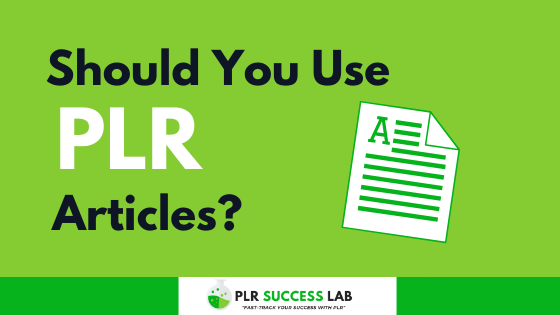 what is a PLR article - should you use PLR articles